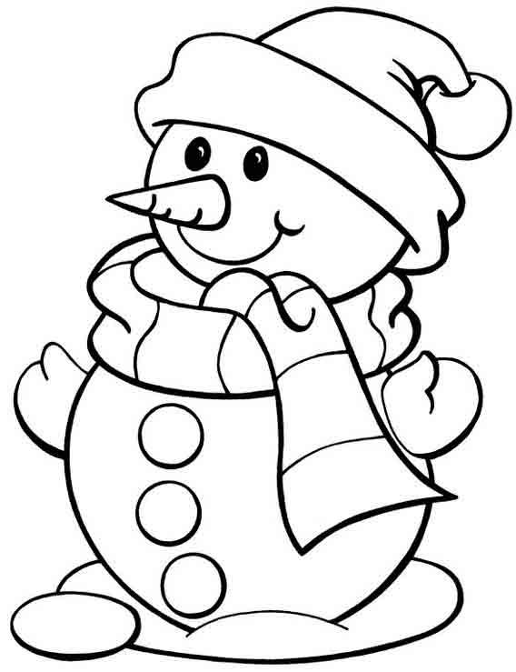 Картинки для раскрашивания забавы детей зимой