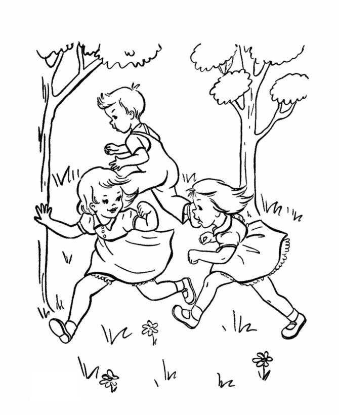 раскраски лето праздник 1 июня день защиты детей дети игра