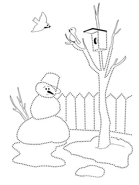 Раскраска снеговик тает | раскраски времена года - весна. весенние