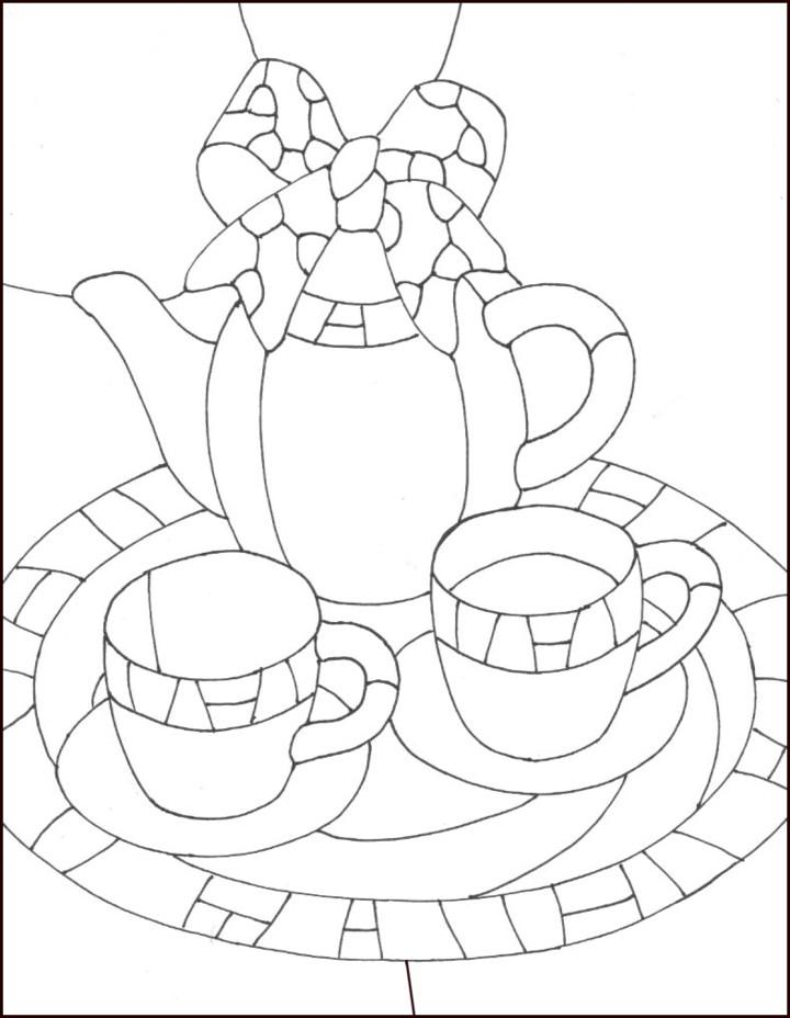 Чайник с кружками