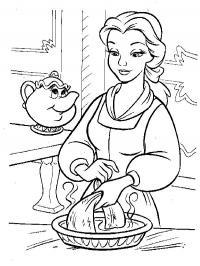 Раскраска волшебная посуда