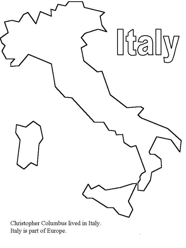 Раскраски европа путешествие страна европа италия карта