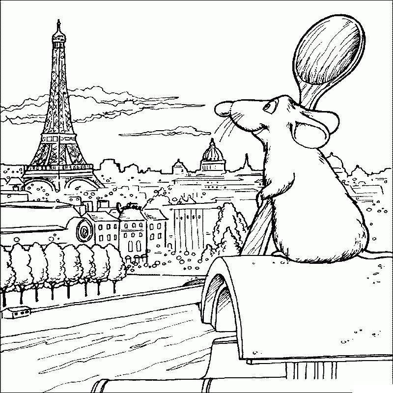 Раскраски европа путешествия страна европа париж мышонок