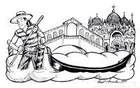 Раскраски венеция путешествие страна европа венеция вода лодка