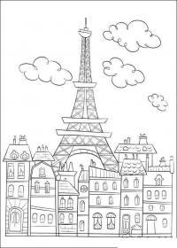 Раскраски европа путешествие европа париж эйфелевая башня