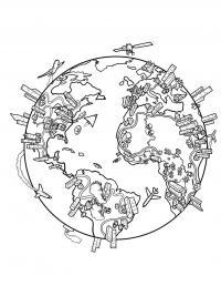 Раскраски европа путешествие страна европа мир земля