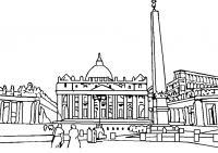 Раскраски европа путешествия европа страна дворец