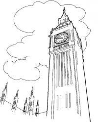 Раскраски европа путешествия европа страна лондон часы биг бэн