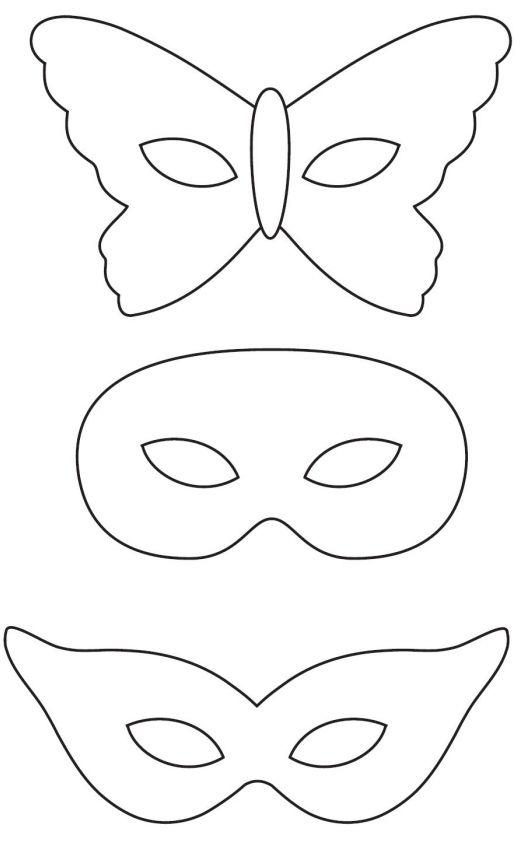 Раскраски маски на карнавал