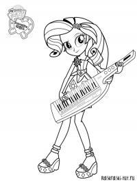 Девочка  с синтезатором