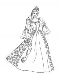 Принцесса с заплетенными длинными волосами