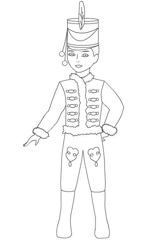 Рисунок костюма карнавального костюма