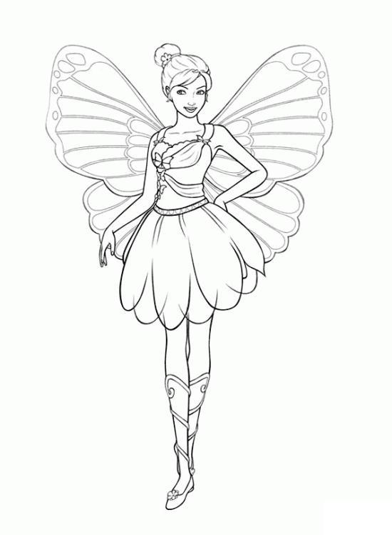 Раскраски персонаж девочкам, девочка, персонаж, фея, крылья