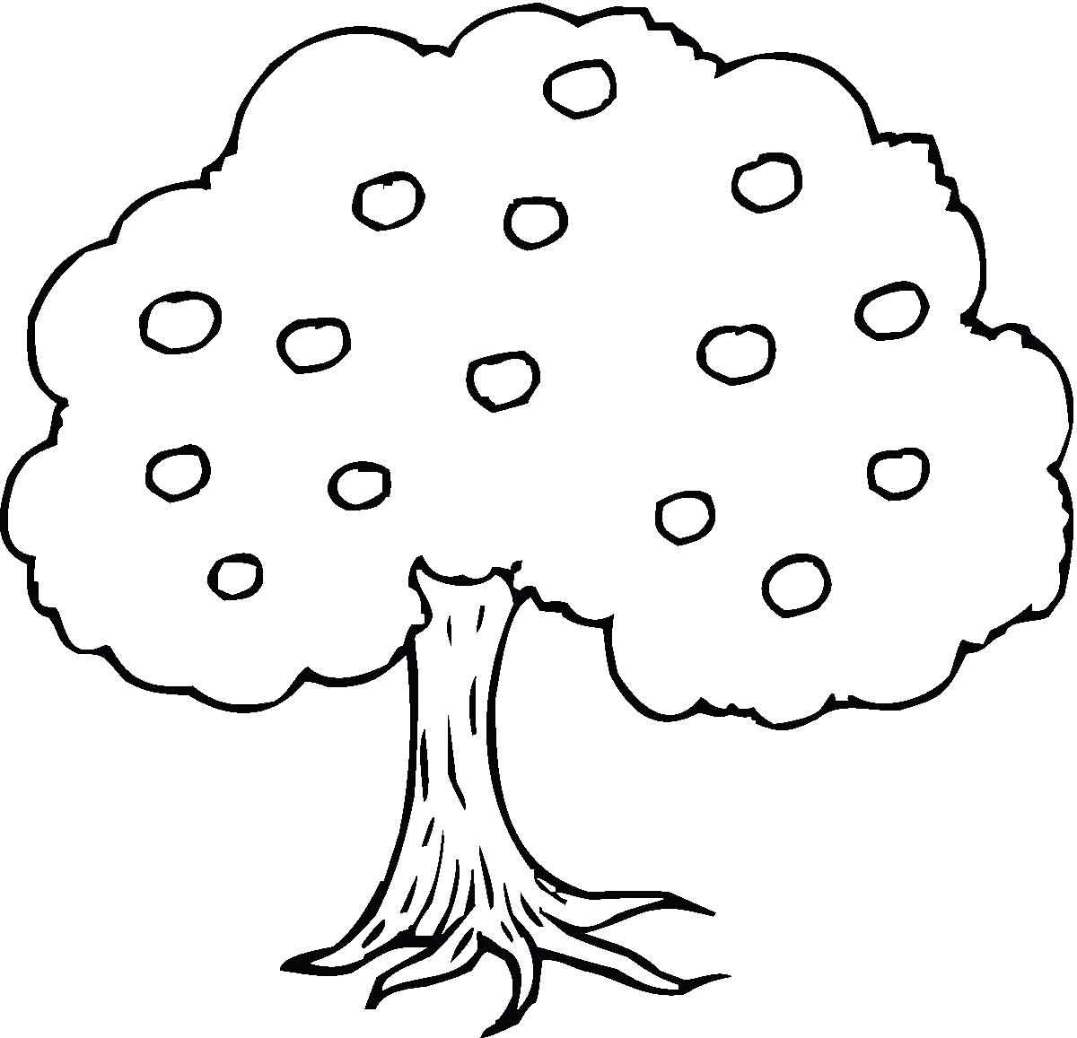 Раскраски дерево дети