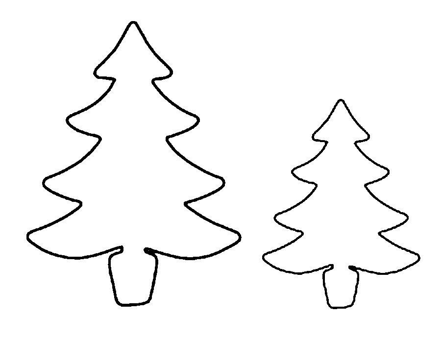 Раскраски ель елка новогодняя выкройка онлайн