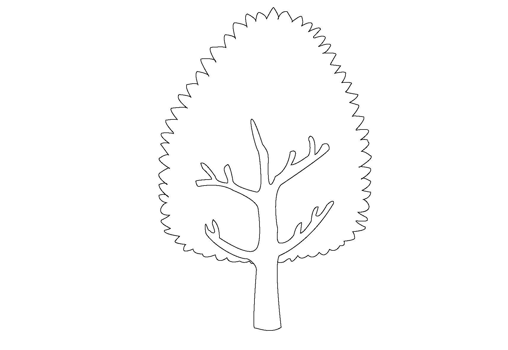 Для скачивания раскраска дерево каштан