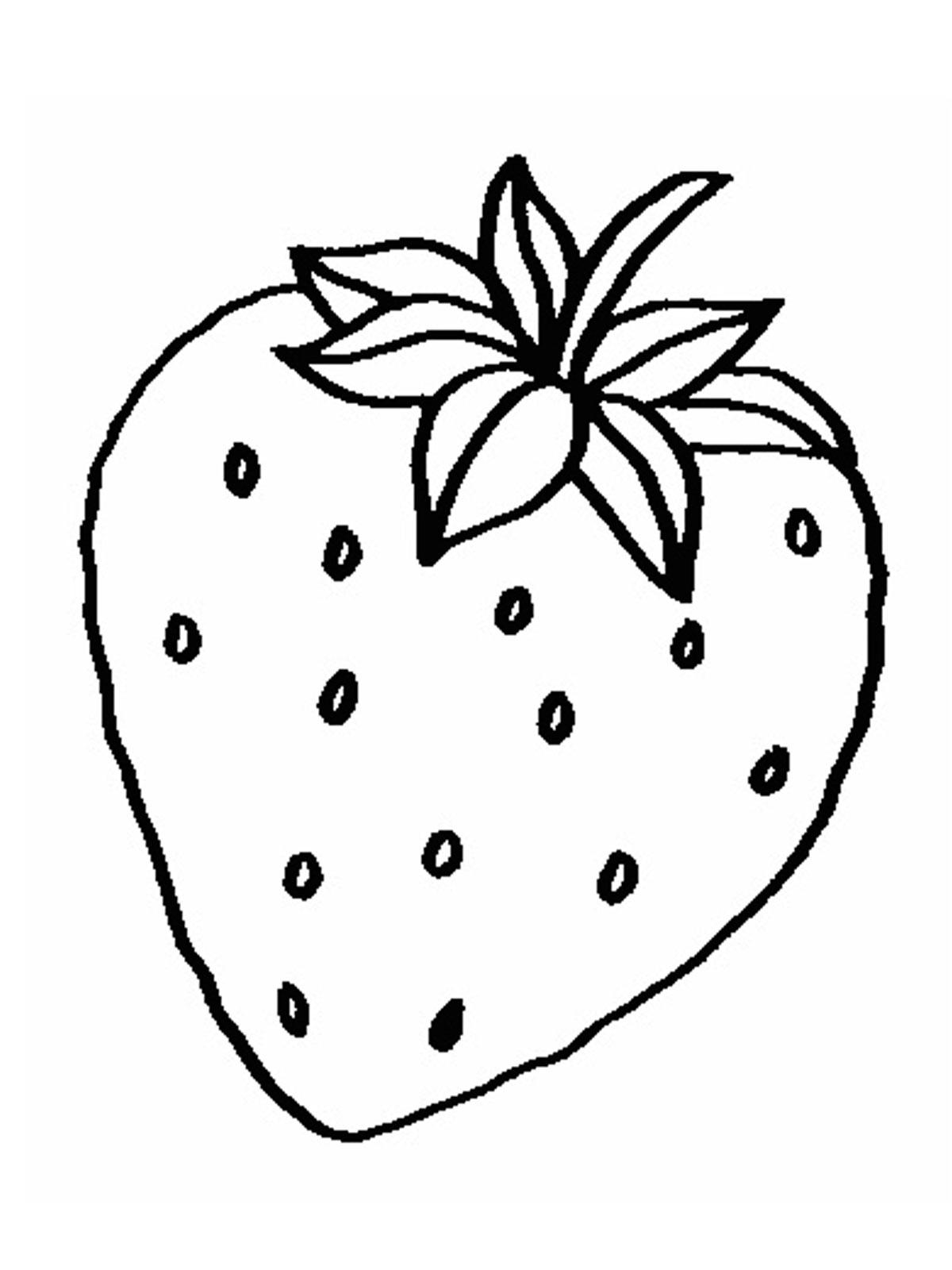 Раскраски фрукты и ягоды. скачать. распечатать