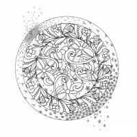 медитативная раскраска для взрослых - сложная мелкие детали для взрослых