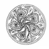 Медитативная раскраска для взрослых цветок