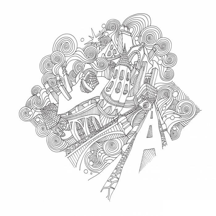 Магия городов. медитативная раскраска для взрослых - лиззи каллен