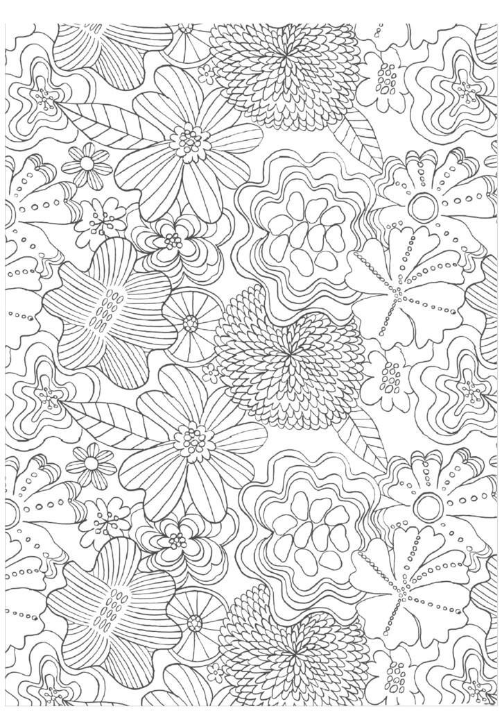 цветы раскраски для взрослых волшебный сад скачать