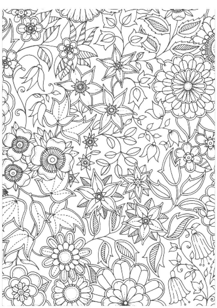 Раскраски антистресс цветы сложные