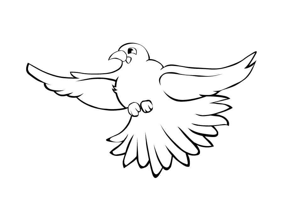 Раскраски птицы в полёте