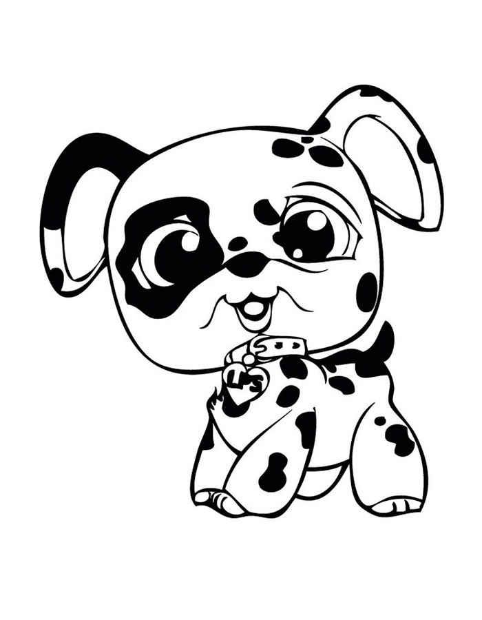 Детские раскраски для девочек и мальчиков, щенок