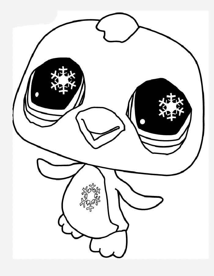Детские раскраски для девочек и мальчиков, пингвин