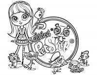 Детские раскраски для девочек и мальчиков, мой маленький зоомагазин