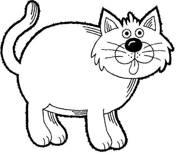Распечатать раскраску толстый кот