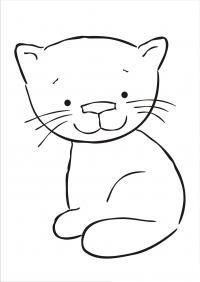 Детские раскраски кошки