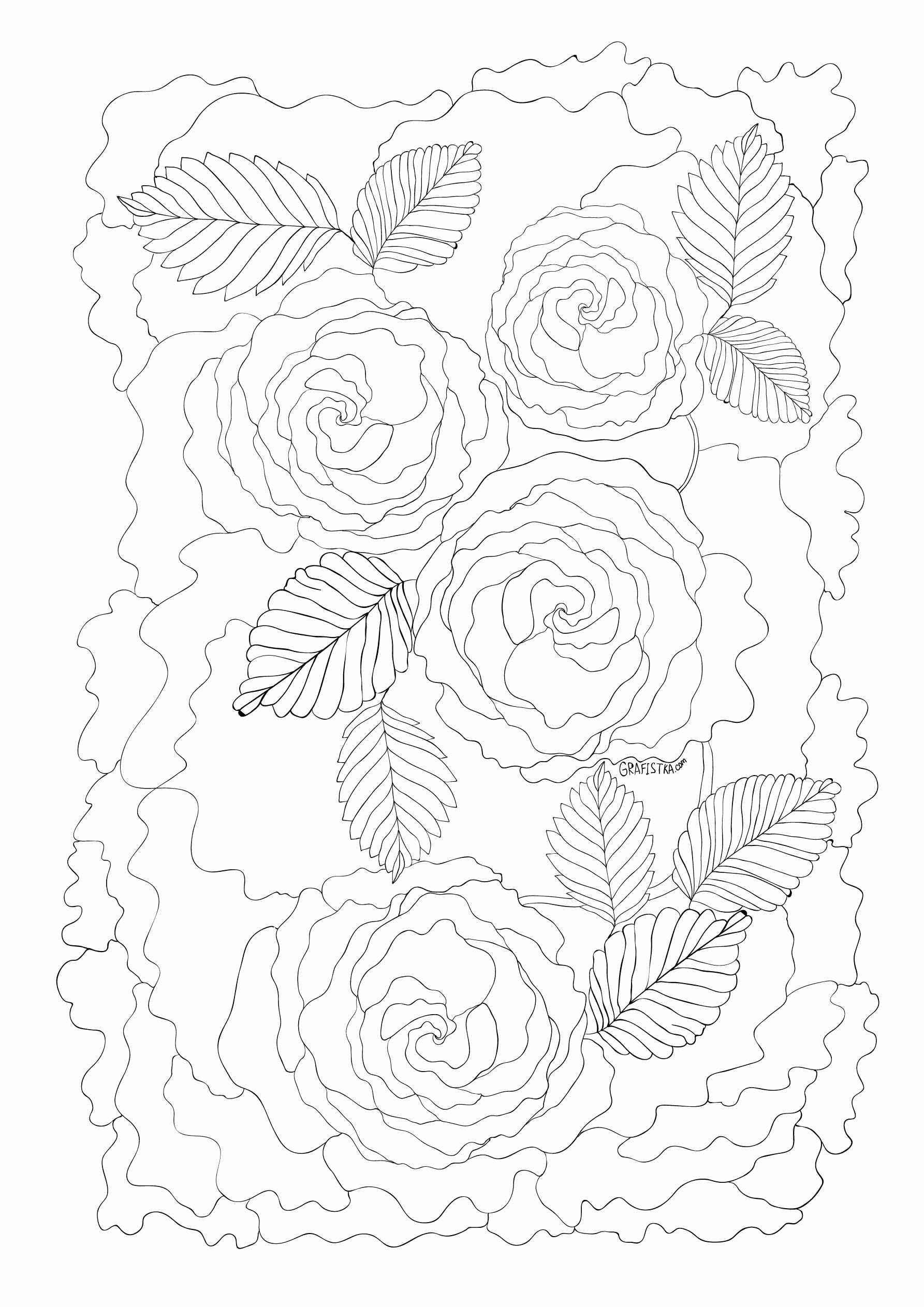 идеальный антистресс или раскраски для взрослых розы