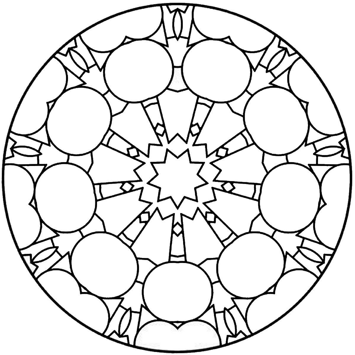 Рисунки для витражных красок, узор из геометрических фигур