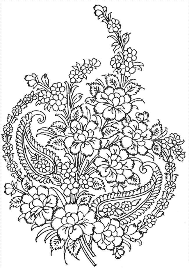 Рисунки для витражных красок, гвоздики