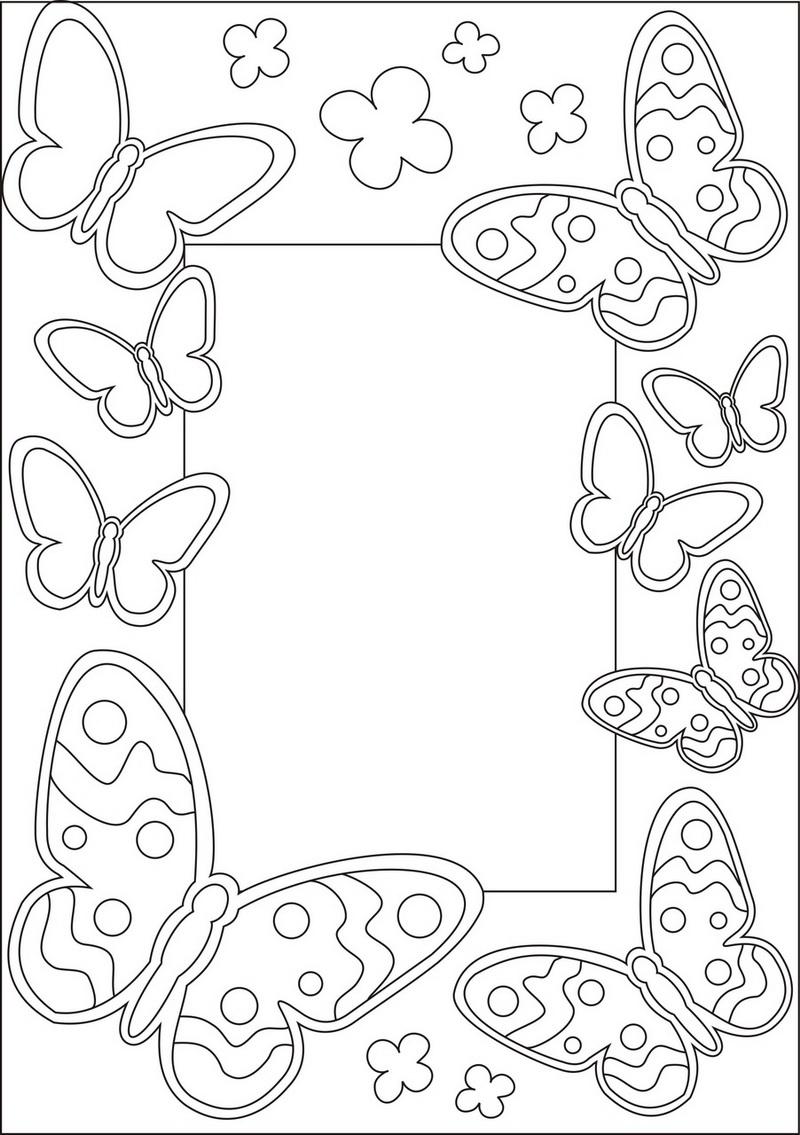 Витражная рамка из бабочек