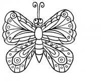 Рисунки для витражных красок, бабочка