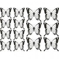 Рисунки для витражных красок, бабочки