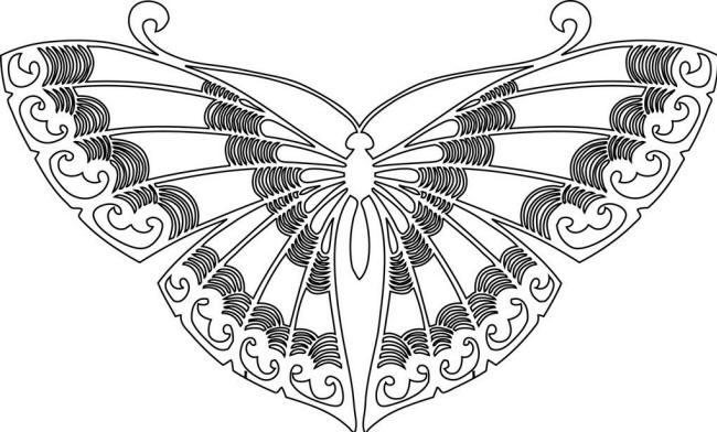 Раскраска бабочки переливницы
