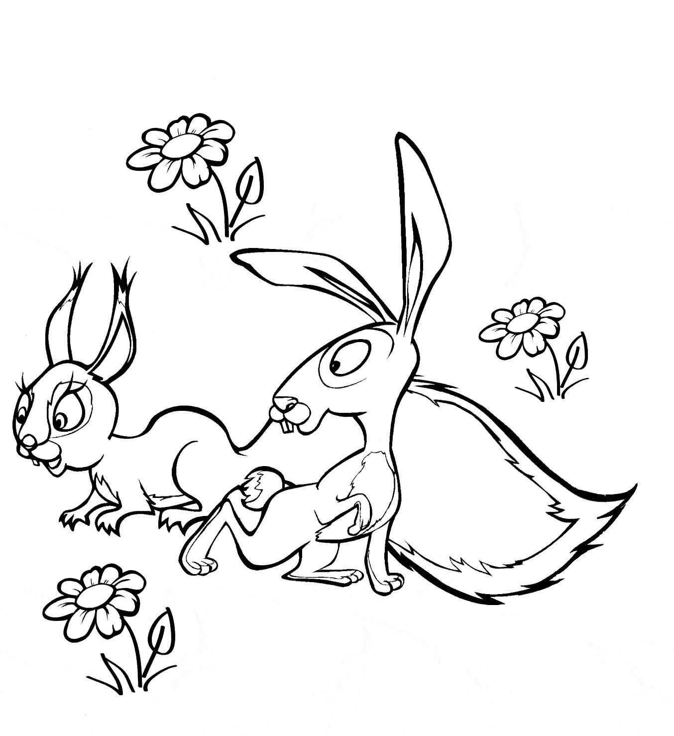Рисунки для витражных красок из мульфильма маша и медведь. заяц и белка