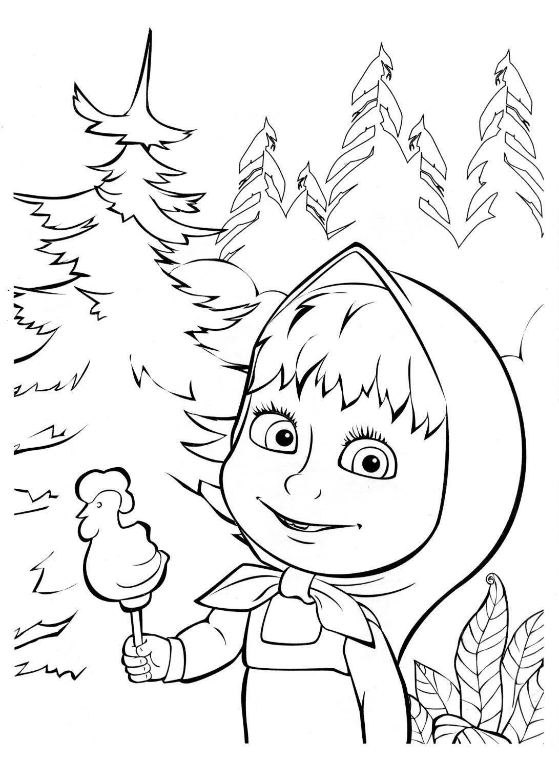 Маша с ледянцом. рисунки для витражных красок из мульфильма маша и медведь.