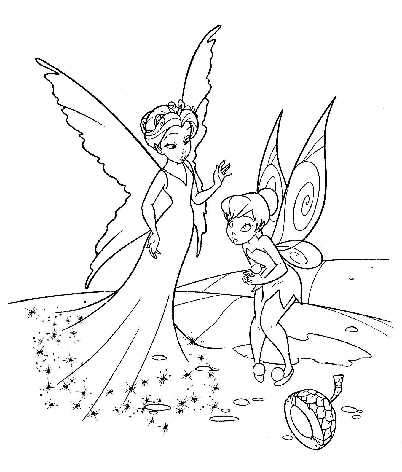 Рисунки для витражных красок из мультфильма феи