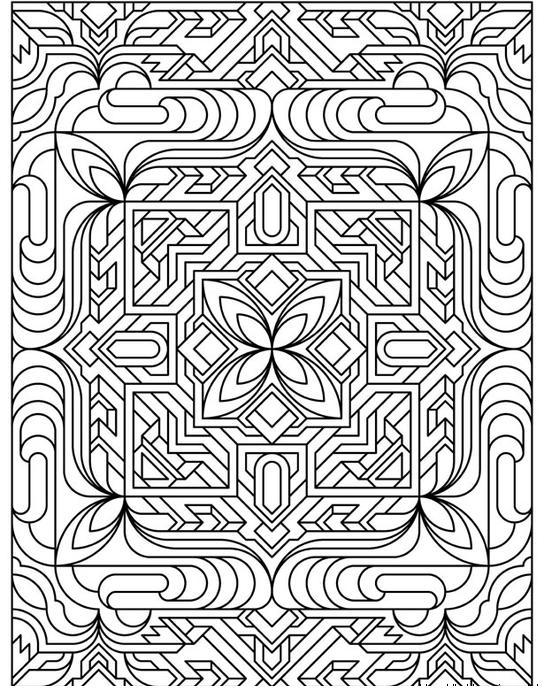 Раскраска для взрослых, цветочный лабиринт