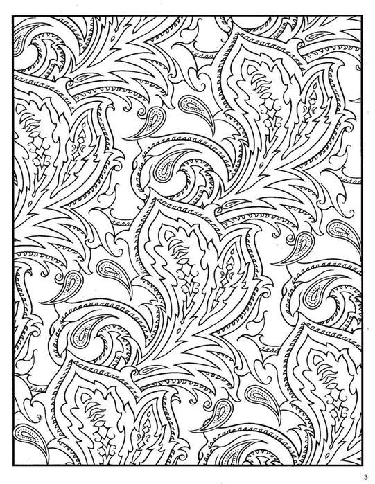 Раскраска для взрослых, цветы и листья