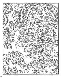 Раскраска для взрослых, тропические цветы