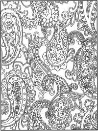 Раскраска для взрослых, цветы