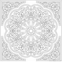Раскраска для взрослых орнамент