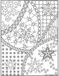 Раскраска для взрослых, звезды
