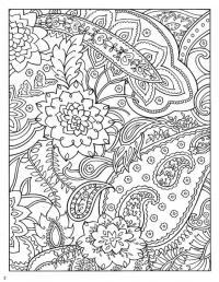 Раскраска для взрослых, большие цветы