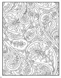 Раскраска для взрослых, цветочки